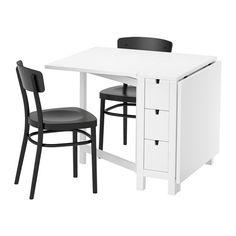 NORDEN / IDOLF Tavolo e 2 sedie, bianco, nero