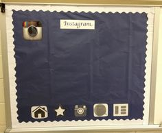 make an instagram bulletin board of their favorite books with hashtags under the pictures of genre, title, author, characters, setting...