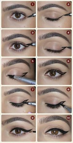 Draw your eyeliner