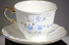 Jiesia Porcelain Bone China Blue And Gold Floral Tea Cup Lithuania #Jiesia
