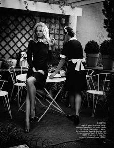 Eniko Mihalik Exudes Pure Elegance for Vogue Spains September Issue