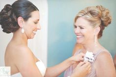 Bride and Mother of the bride hair and makeup by Lisa Leming