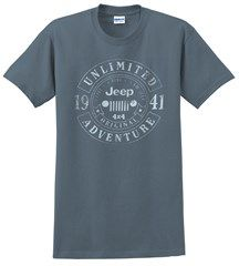 Jeep Banner Circle Men's T-Shirt in Indigo Blue All Things Jeep