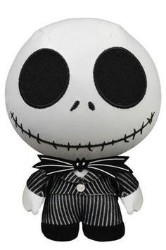 Nightmare Before Christmas Fabrikations Plush Figure Jack Skellington 14 cm