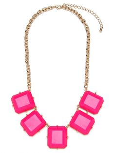 I like this because it's similar to a bubble necklace but a more modern shape...Fuchsia Gem Strand
