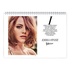 Emma Stone  Interview Calendar by MovieShop on Etsy