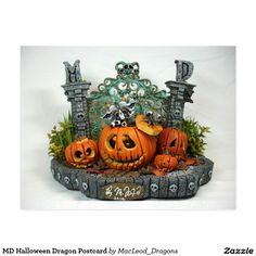 MD Halloween Dragon Postcard