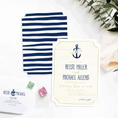 Nautical Waves Wedding Invitations