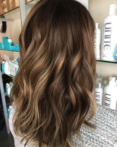 "Seamless brunette balayage 58 Likes, 5 Comments - Delia Arechiga (@hair.by.delia) on Instagram: ""This beautiful lady is ready for her daughter wedding!…"""