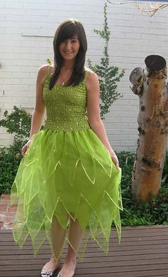 NEW Adult Fairy Dress Plus Size Tinkerbell Halloween Costume #Halloween #costume www.loveitsomuch.com