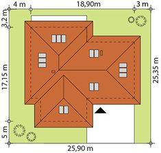 DOM.PL™ - Projekt domu TP Temida 3 CE - DOM TP1-46 - gotowy koszt budowy Bungalow, House Plans, Sweet Home, Cool Houses, Country Houses, House Beautiful, House Floor Plans, Craftsman Bungalows, Bungalows