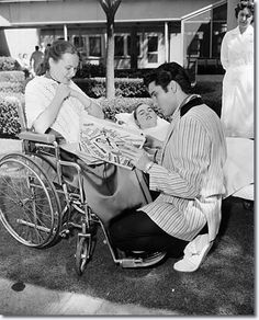 Life before vaccination: Elvis Visiting polio victims, May 1957 (a horrifying scourge. Thank you, Jonas Salk and  Albert Sabin for developing the polio vaccine!) In 1957 there were still children contracting Polio. It was a horrible disease. Today we don't have to face children in iron lungs or totally crippled. This is (understatement) a very good thing.