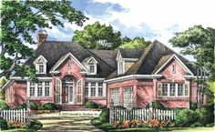 Renderings The Godfrey House Plan #1003 | Random house things ...