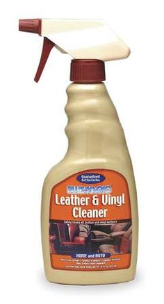 To clean Georges Car ????? Leather/Vinyl Cleaner, 16 Oz, Spray Bottle