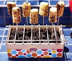 Grilled corn display
