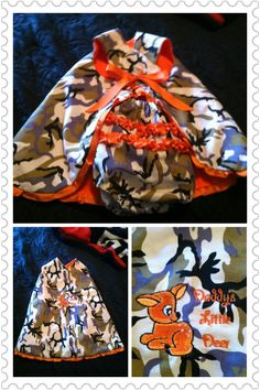 Sage's first camo made by Gam Gam for my daddy on Father's Day 2014.