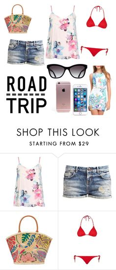 """Road trip"" by meagan-neville ❤ liked on Polyvore featuring Dorothy Perkins, Tory Burch, Chanel and Melissa Odabash"
