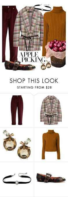 """""""Apple Picking in Virginia"""" by sarina-noel ❤ liked on Polyvore featuring Miu Miu, Isabel Marant, The Gigi, Rochas, Fall, plaid and applepicking"""