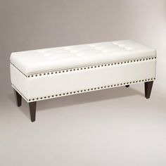 Oyster Burnett Storage Bench | World Market