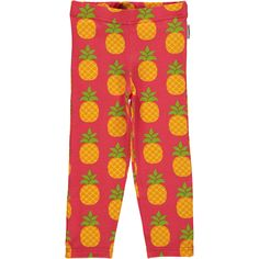 Pineapple leggings from Maxomorra, made from 100% Organic Cotton. Sweatshop free ethical and sustainable fashion. From Maxomorra, available at Modern Rascals.