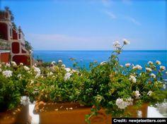 "BrowsingItaly.com » ""Show and Tell"": Positano, Amalfi Coast - A terrace for dreaming"