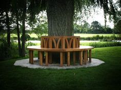 Oh!  We used to have a tree bench in the backyard of the house were I little.  This one is awesome.