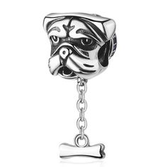 EVESCITY Monkey Mom Mother Baby Cute Silver Charm Sterling Bead Pendant Compatible with Popular Charms Bracelets /♥ Best Jewelry Gifts for Her Women Children /♥