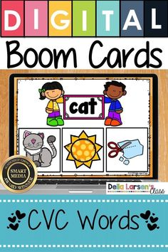 $15 · This CVC words NO PREP Packet is filled with Boom Cards to help your students with blending and segmenting cvc words. Boom cards are a perfect way to help students practice phonological awareness and… More Literacy Stations, Literacy Skills, Literacy Centers, Kindergarten Readiness, Kindergarten Classroom, Autism Classroom, Future Classroom, Reading Centers, Reading Skills