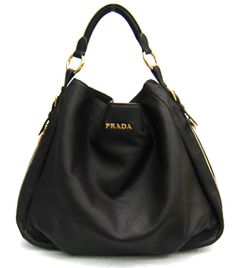 Prada Bag Leather Hobo Black BR4099 my designer brands