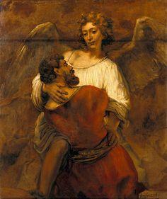 Rembrandt Harmenszoon van Rijn Jacob Wrestling with the Angel ca. 1659