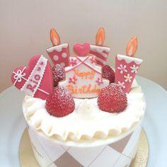 【文字入れ可】誕生日ケーキ用アイシングクッキー<5点セット>【平野パン・クッキー教室】
