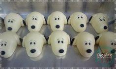 Doces modelados, Shaped candy, Sweet, Leite em pó, Leite Ninho. Pagina: Monike Doces Artesanais Tema: Snoopy