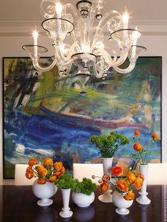 Art Deco, Contemporary, Eclectic, Modern, Traditional, Transitional Dining Room, Vignette | David Scott Interiors, LTD. | Dering Hall Design...