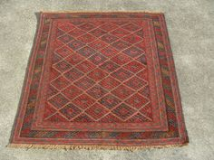 Tribal Afghan Rug 125 X 110 Cm Mushwani Handmade Persian Turkish Ebay