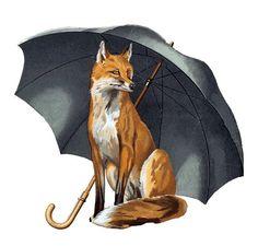 Fox Umbrellas Ltd Croydon Surrey, UK For a Fox crossed with Pengelly Fox Sketch, Fox Crafts, Fox Dog, Crows Ravens, Fox Hunting, Little Fox, Red Fox, Art Pictures, Illustration Art
