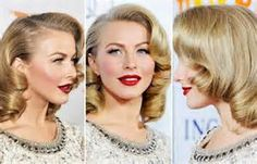Julianne Hough's large retro style  - Practice via you tube