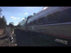 Amtrak train passing thru the Lorton's station 2/29/16 - YouTube