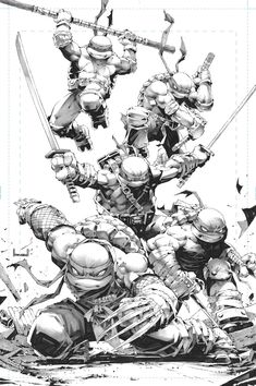 Haha It's nice to be back drawing these ninjas for Big Time Collectibles and IDW Publishing. Ninja Turtle Drawing, Ninja Turtle Tattoos, Turtle Sketch, Ninja Turtles Art, Teenage Mutant Ninja Turtles, Ninja Turtle Decorations, Samurai, Poster Designs, Comic Art