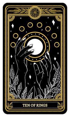 The Marigold Tarot Minor Arcana: Rings, Amrit Brar 2017 the complete deck launches on Kickstart Tarrot Cards, Arte Black, Oracle Tarot, Arte Obscura, Occult Art, Art Design, Tarot Decks, Alchemy, Dark Art