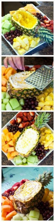 Pineapple and Citrus Fruit Dip - a delicious summer dessert.