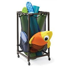 Gonna Make This Out Of PVC U0026 A Ball Net! Pool Toy StorageOutdoor ...