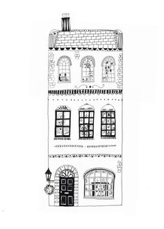 New House Illustration Drawing Simple 27 Ideas house drawing Art And Illustration, Building Illustration, Black And White Illustration, Art Illustrations, Sketchbook Ink, Building Drawing, Doodles, House Drawing, Drawing Art