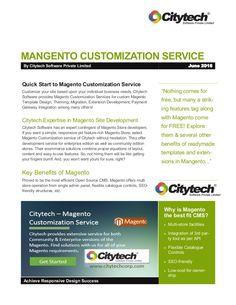 #Magento Custom Website Development Services by Citytech Software Private Limited: http://www.slideshare.net/abhijitseo/magento-customizationservicesbycitytechsoftwarepvtltd