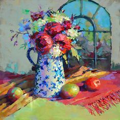 Mary Kate's Pitcher by Trisha Adams Oil ~ 30 x 30