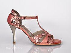 Women's tango shoe - Orange Mosaic - binicideri.com