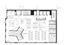 Boora Architects, office plan Source by ancacrisan Office Layout Plan, Office Floor Plan, The Plan, How To Plan, Open Space Office, Corporate Interiors, Office Interiors, Commercial Office Design, 100 M2