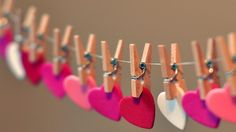 They have to find a heart around the house that says something you love about them and then clip it to the garland