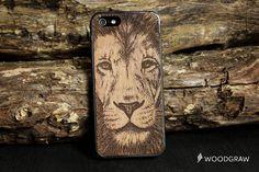 Lion Face Animals Beard Wood Case Nature iPhone 7 by WOODGRAWshop