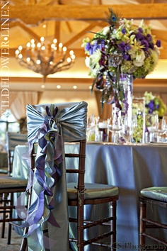 Chair covers and table linens are a must and I will be having something different!