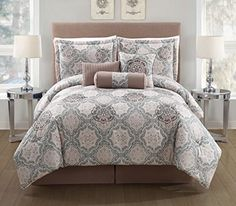 7 Piece Queen Elena Comforter Set -- ** AMAZON BEST BUY -affiliate link** #Bedding>70% Off